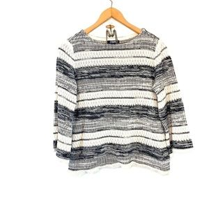 Chaps knit sweater with bell sleeves